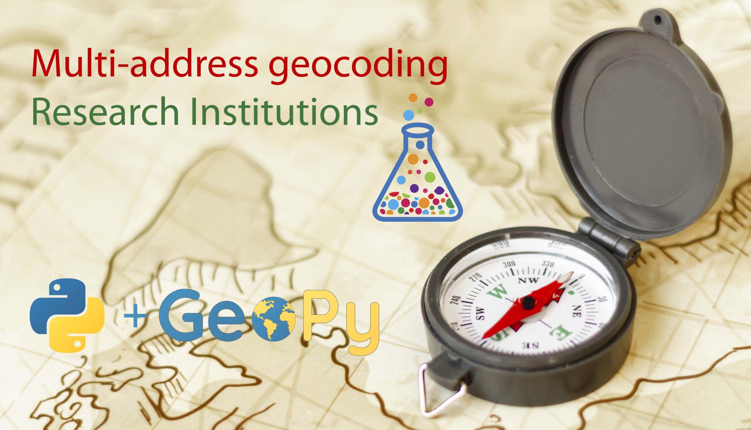 Multi-address geocoding con Geopy and Python