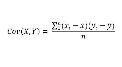 Cómo se calcula la covarianza entre dos variables?